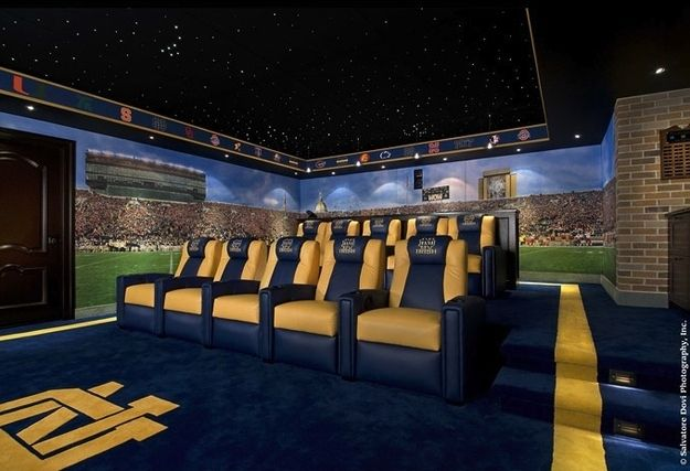 THIS IS THE REST OF THE UNREAL NOTRE DAME FOOTBALL FAN HOME THEATER ROOM THAT I GOT NOW BECAUSE I ALSO HAVE ALREADY GOT THE BACKSIDE OF THE FAN ROOM BUT I WILL ADMIT SOMETHING RIGHT NOW AND I REALLY COULD CARE LESS IF NOTRE DAME NEVER WON ANOTHER FOOTBALL GAME EVER AGAIN BUT THEY ARE ONE COLLEGE FOOTBALL TEAM THAT I REALLY ENJOY THERE HISTORY AND TRADITIONS AND THEY HAVE SOME GREAT FANS WHO I KNOW ARE LIKE ME AS A BAMA FOOTBALL FAN AND THE WAY I FEEL I'M SURE NOTRE DAME FOOTBALL IS A BIG…