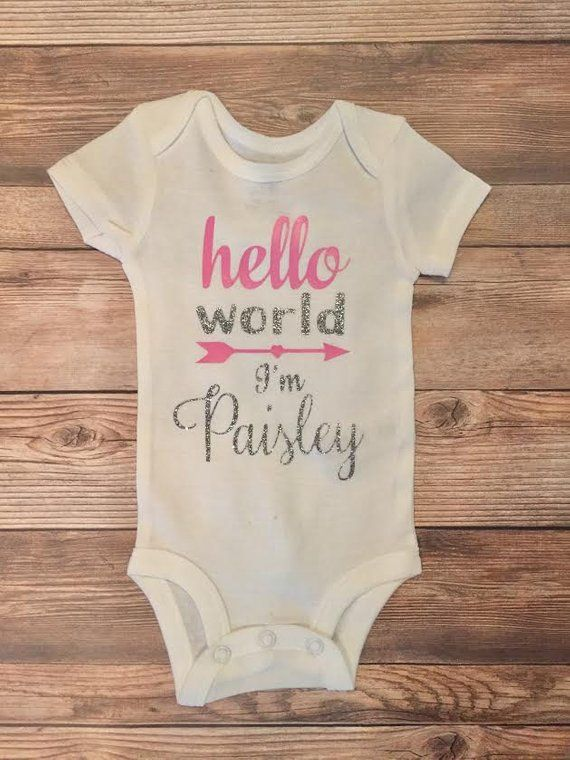 Personalized Bodysuit Baby Shower Gift Baby Bodysuit Coming Home Outfit