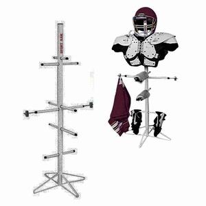 [wet gear] sports rack equipment organizer
