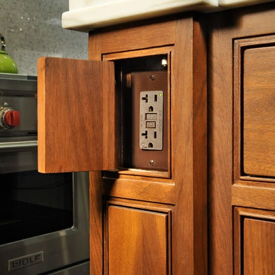 16 Best Images About Kitchen Electrical Outlets On Pinterest Modern Kitchen Cabinets Shelves