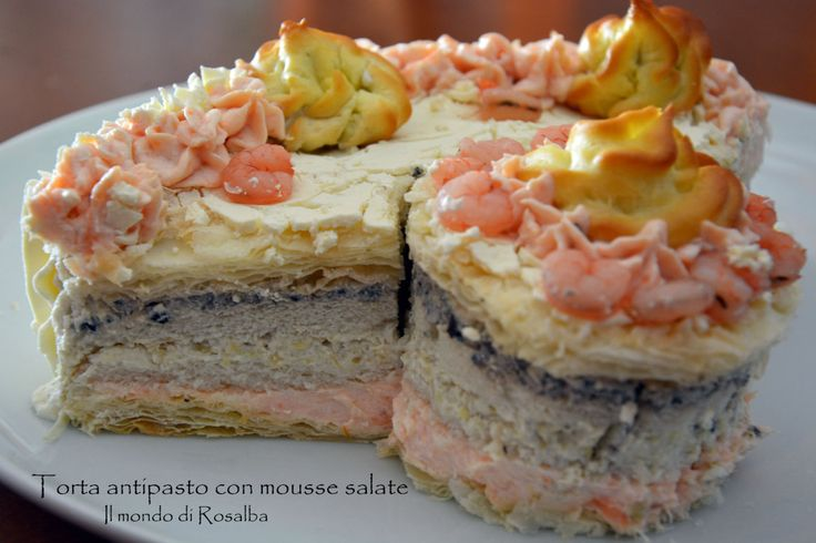 Torta antipasto con mousse salate
