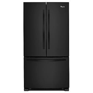 Black fridge freezer my home pinterest matte black for Matte black kitchen doors