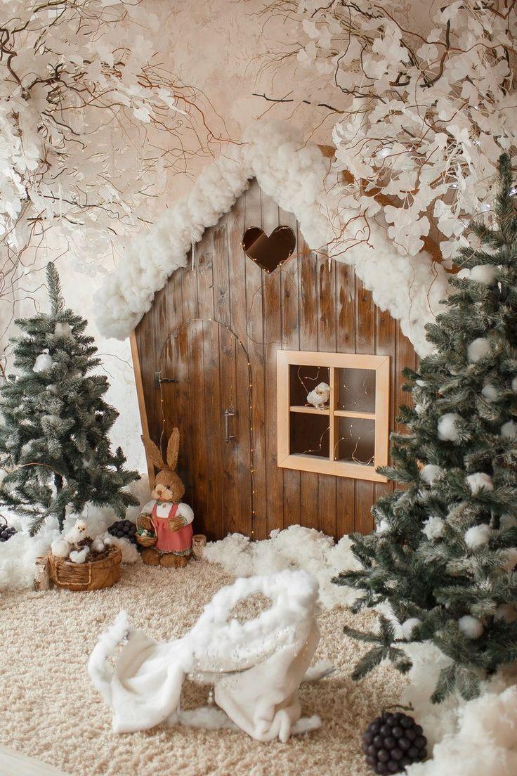 Оформление лесного домика новогоднее фото