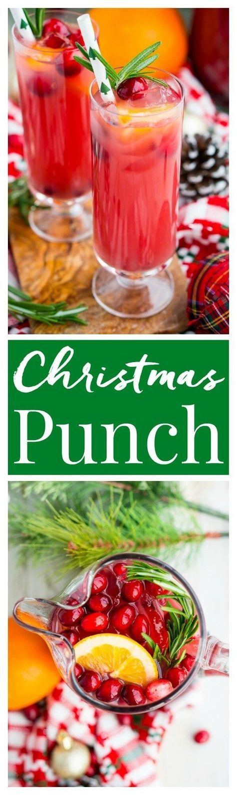 Christmas Punch is an easy and delicious holiday party drink packed with fruits like cranberries, oranges, and pomegranates. Keep it non-alcoholic or add rum or vodka for extra holiday spirit!
