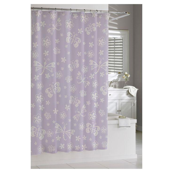 Best Butterfly Shower Curtain Ideas On Pinterest Sunflower - Girl bathroom shower curtain for small bathroom ideas