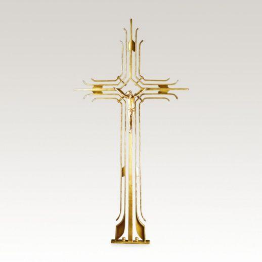 Grabkreuz »Forcado« mit Christus • Hochwertige Schmiedekunst & Handarbeit • Jetzt versandkostenfrei kaufen bei ▷ Serafinum.de