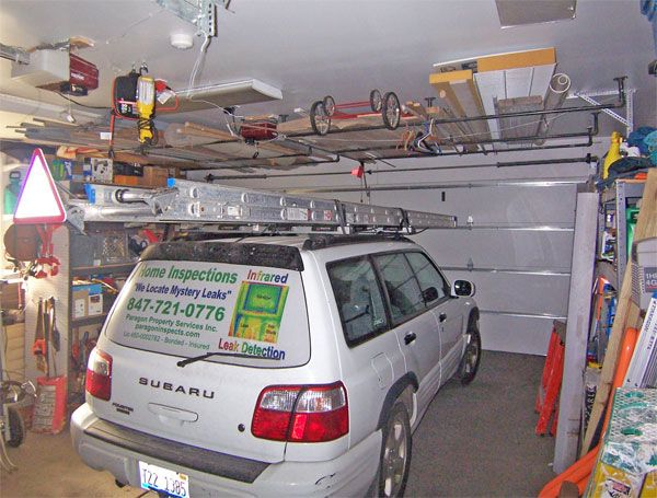 diy garage storae ideas | ... the garage ceiling is the underside of the floor of my office above