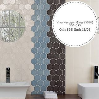 Our Spring sale just keeps getting better and better! Today we have our Viva Hexagon Gloss (1000) 380x395 all colours on special! For one week only you can get this beautiful hexagon tile for only $29!! But hurry our stocks are limited and the sale ends on Monday the 12th #designtiles #spanishhexagon #spanishtile #handmade #hexagon #tiles #unique #sale #clearance