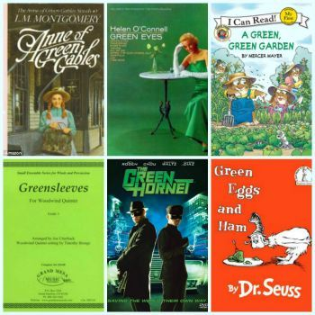 Theme~Green Titles: Small (289 piece puzzle available under themes) (36 pieces)