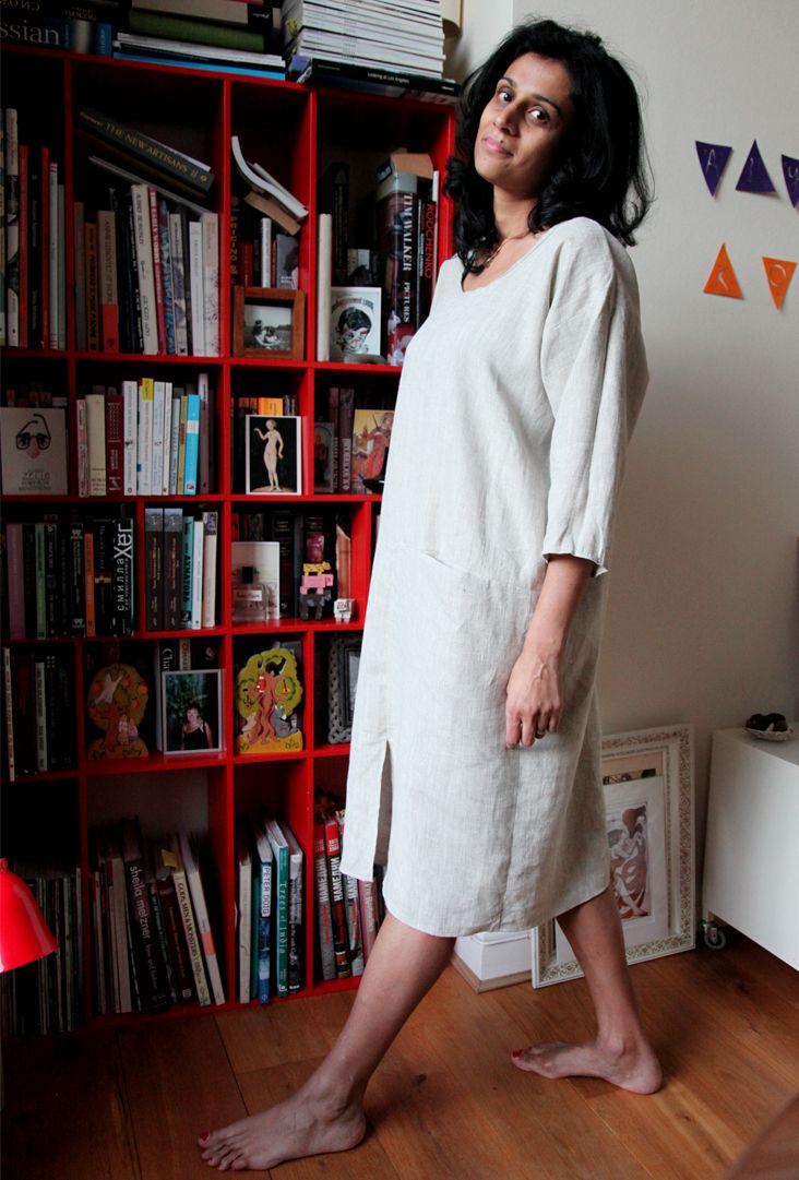 Oversize Linen Dress Tutorial