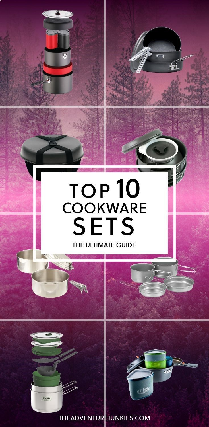 Top 10 Best Cookware Sets for Camping and Backpacking – Best Camping Gear – Hiking Gear For Beginners – Backpacking Equipment List for Women, Men and Kids