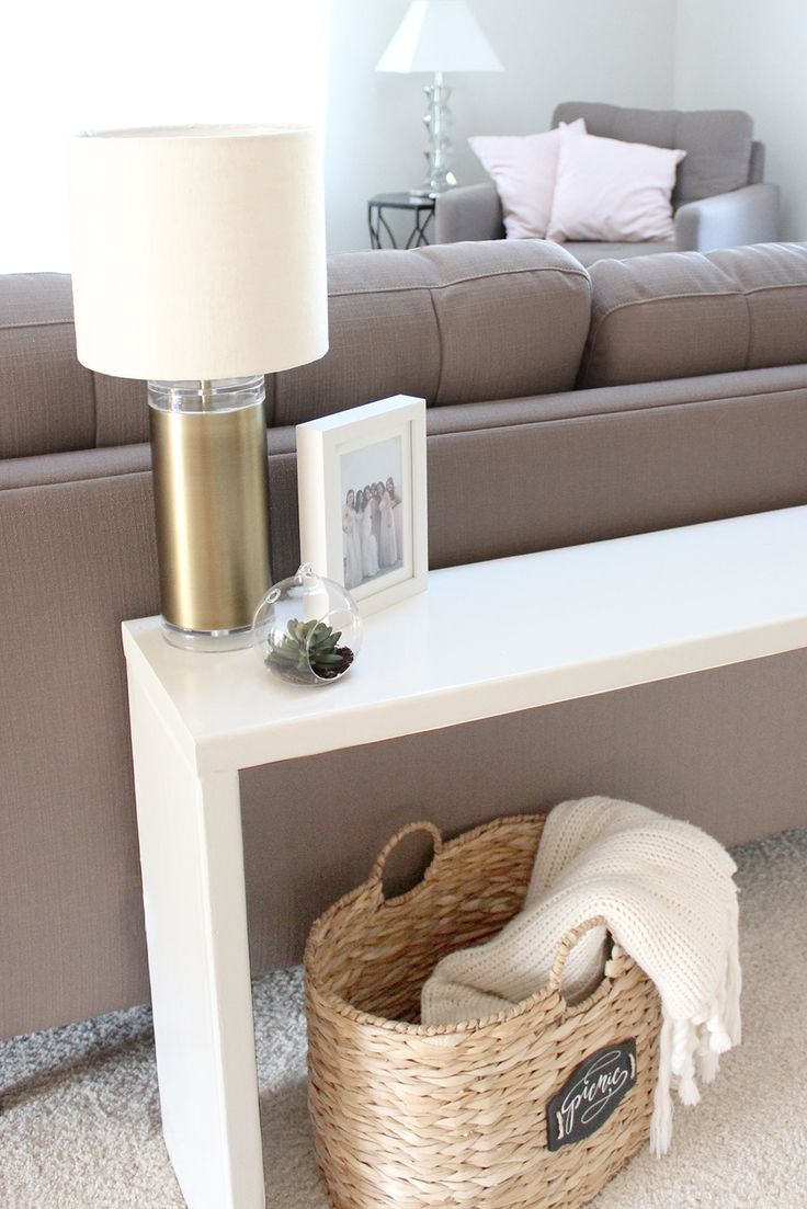25 best ideas about table behind couch on pinterest for Sofa table ideas
