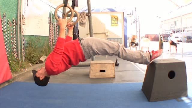 Ever try the ring bodyweight row? A very intense exercise. If you don't have rings, you can also use a bar. #calisthenics #bodyweight #exercise Check out this video for instructions: http://gymnasticswod.com/content/ring-row