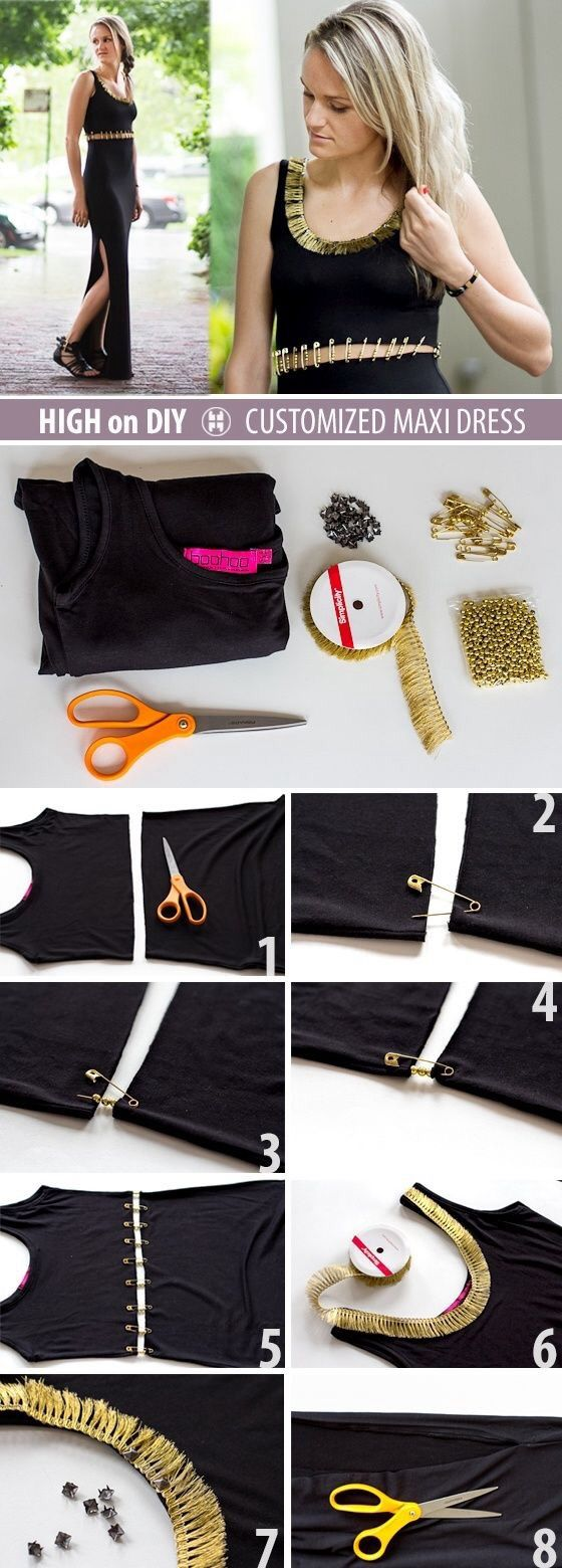 Diy t shirt customis 233 more - Diy Clothes How To Change Your Old Clothes Into New Fashionable Pieces