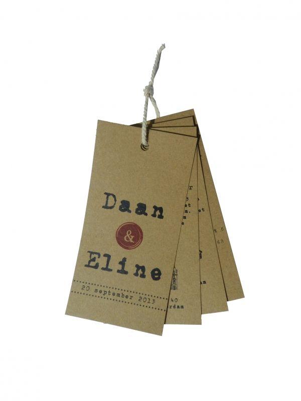 Trouwkaart label | Geboortelabels/Vintage trouwkaarten | Huis & Grietje