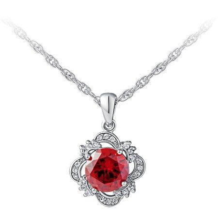 Горячая распродажа любовь мода белый рубин изумрудное ожерелье из серебряное ожерелье из бриллиантовое колье