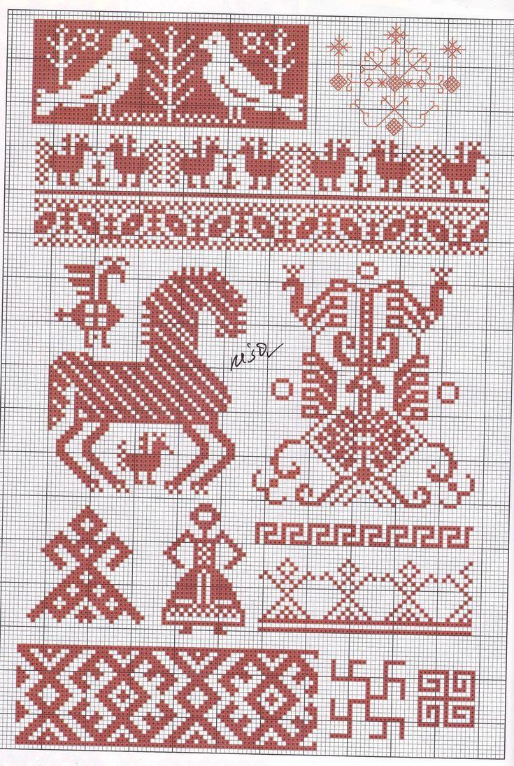 вышивка берегиня схема