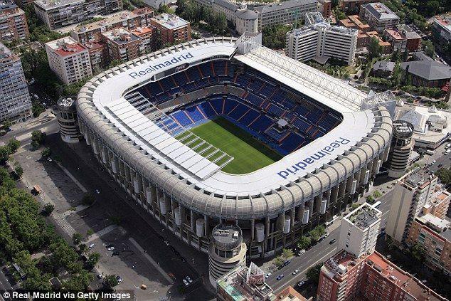 Santiago Bernabéu Stadium , Real Madrid, Spain. Capacity 81,044!