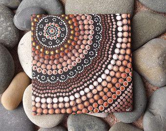 Strand Design Dot kunst schilderij van Raechel door RaechelSaunders