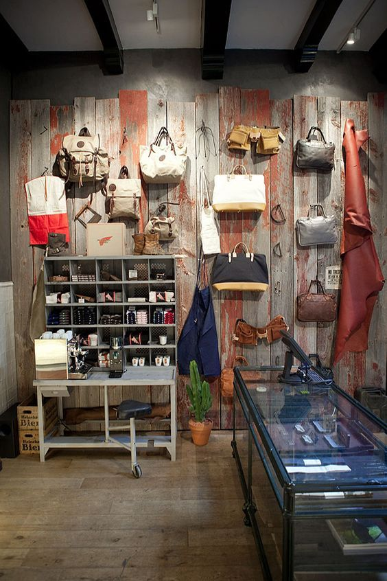 Red Wing Shoes Store, Amsterdam  store design