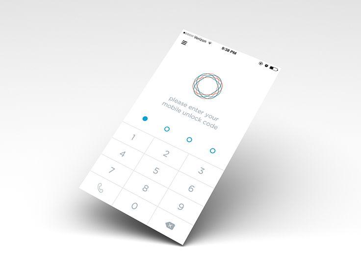 Simple lock screen