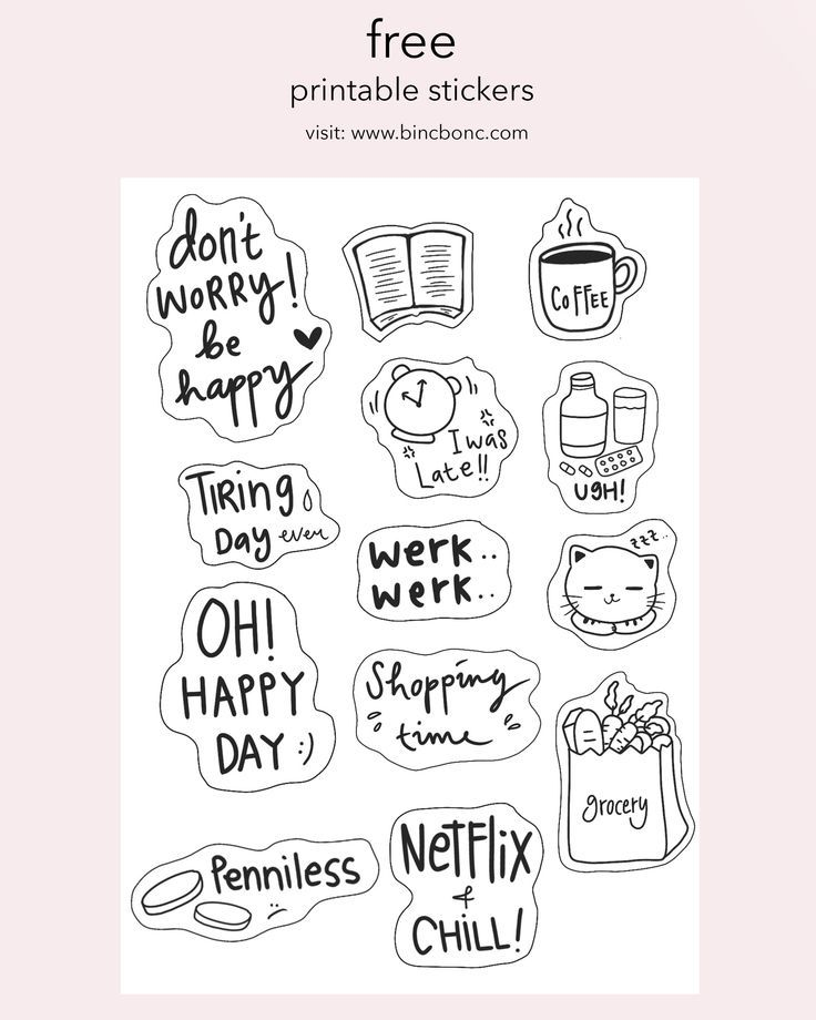 Free Printable Planner Stickers For Donut Lovers A Country Girl S Life In 2020 Free Printable Stickers Free Printable Planner Stickers Printable Planner Stickers