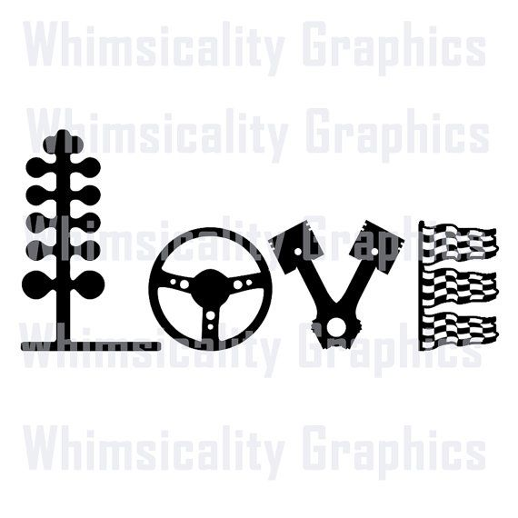 This product is a compressed zip of digital files (SVG, DXF, PNG) of our Love Drag Racing graphic. This zip file is for COMMERCIAL and