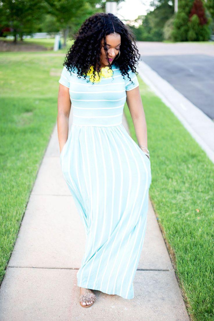 Babydoll Maxi Dress| Striped Maxi Dress| Dresses for Tall Ladies| Maxi Dress Outfit