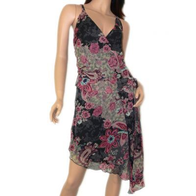 Women's Clothing :: Dresses :: Gold trimmed floral dress - $39