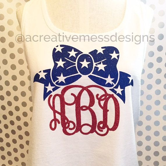 Fourth of July Glitter Monogram Shirt Red. They have all the sizes we need!!
