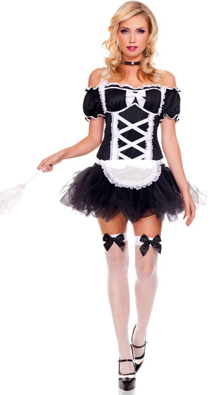 Frisky French Maid Costume  sc 1 st  Pinterest & 53 best Zut Alors! images on Pinterest | Maid costumes French maid ...
