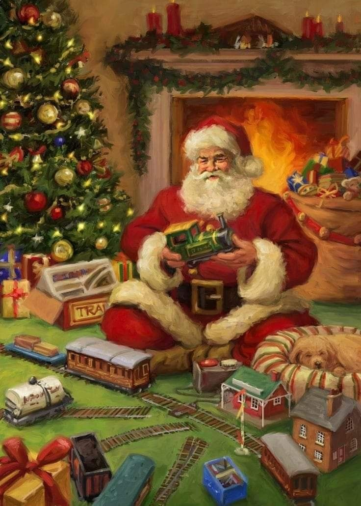 All About Christmas Eve.Father Christmas On Christmas Eve All Things Santa