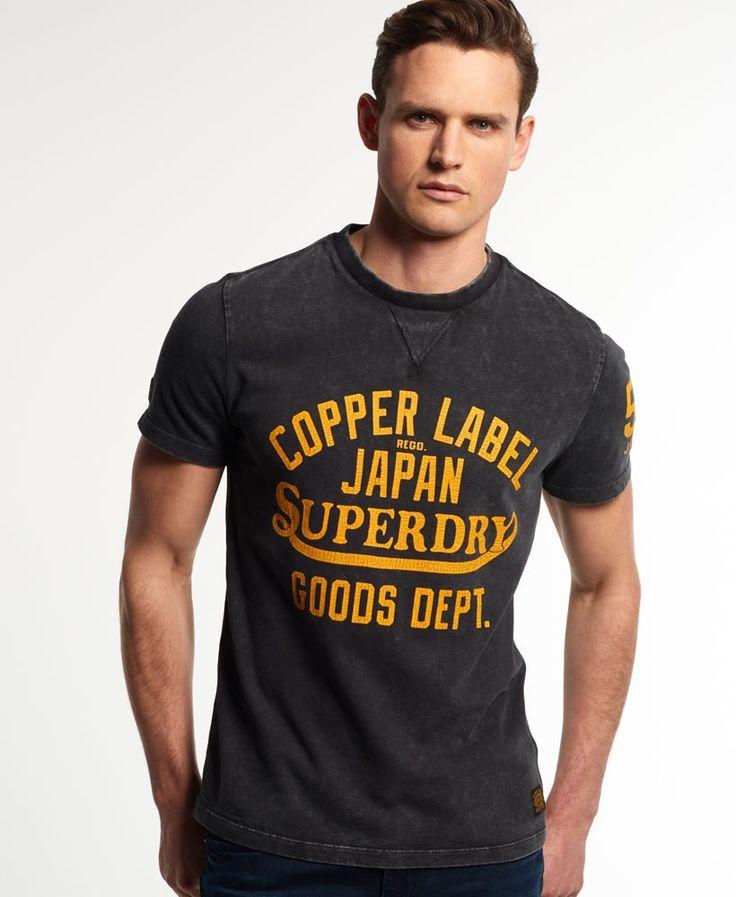 Superdry - Copper Label Cafe Racer Tee Shirt Oil Black