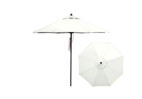 Solid White Umbrella