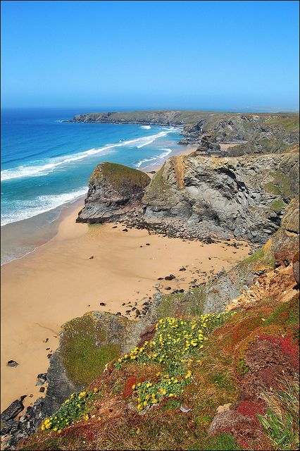 Bedruthan Steps, North Cornwall, England
