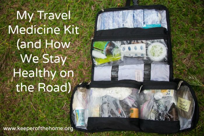 Having the peace of mind that comes from carrying a wide array of natural remedies and medicines as we travel is worth its weight in gold. Naturally, the travel medicine kit I created for us weighs a ton (and resides in my husband's bag, which I'm sure he loves).