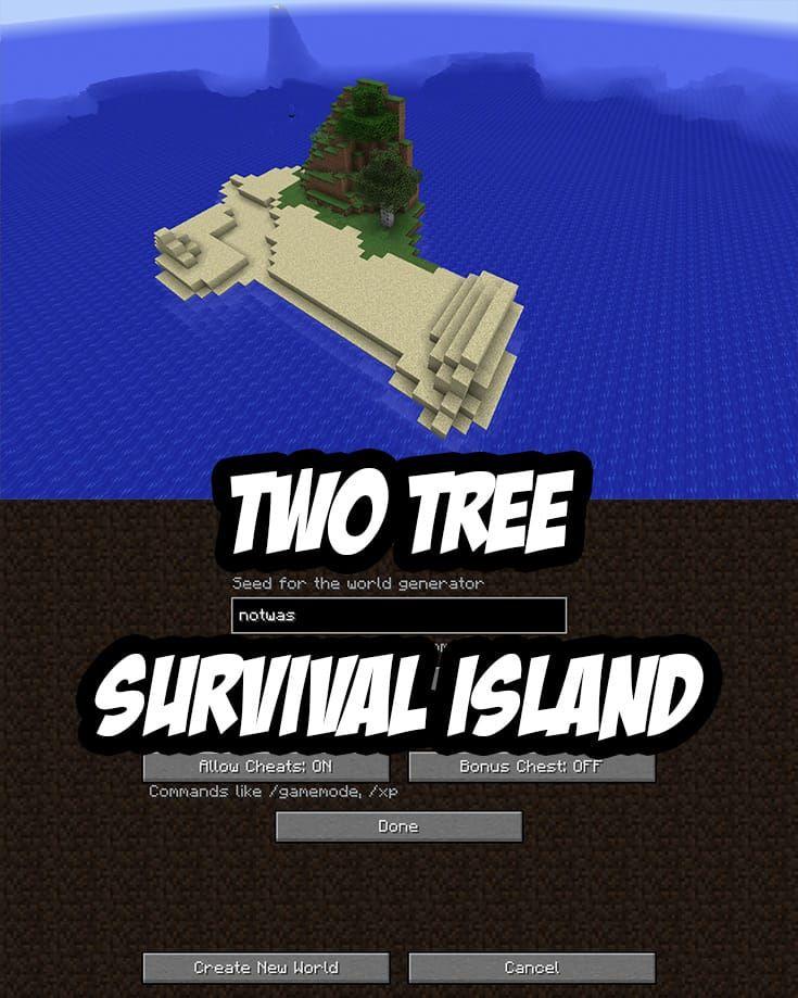 Minecraft PC/Mac Survival Island Seed:notwas
