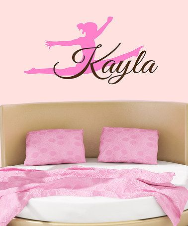 Love this Brown & Pink Personalized Gymnast Wall Decal on #zulily! #zulilyfinds