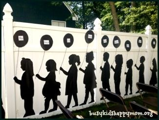Silhouette Parade Directions- It's never too early to think about the end of the school year :), Mother's Day Tea, Preschool Graduation, Grandparents Day, Teacher Appreciation, Open House...you name it!  busykidshappymom.org