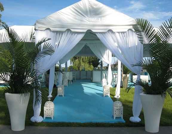 Event entryway outdoors