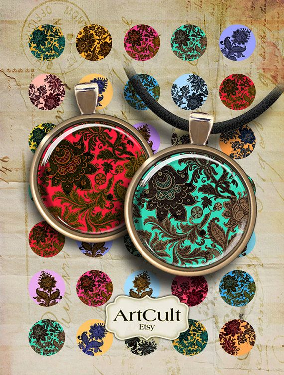 ROYAL DAMASK CIRCLES  Digital Collage Sheet 1 inch size by ArtCult, $4.60  https://www.etsy.com/listing/64969912/royal-damask-circles-digital-collage?ref=sr_gallery_28&ga_order=date_desc&ga_view_type=gallery&ga_page=39&ga_search_type=all