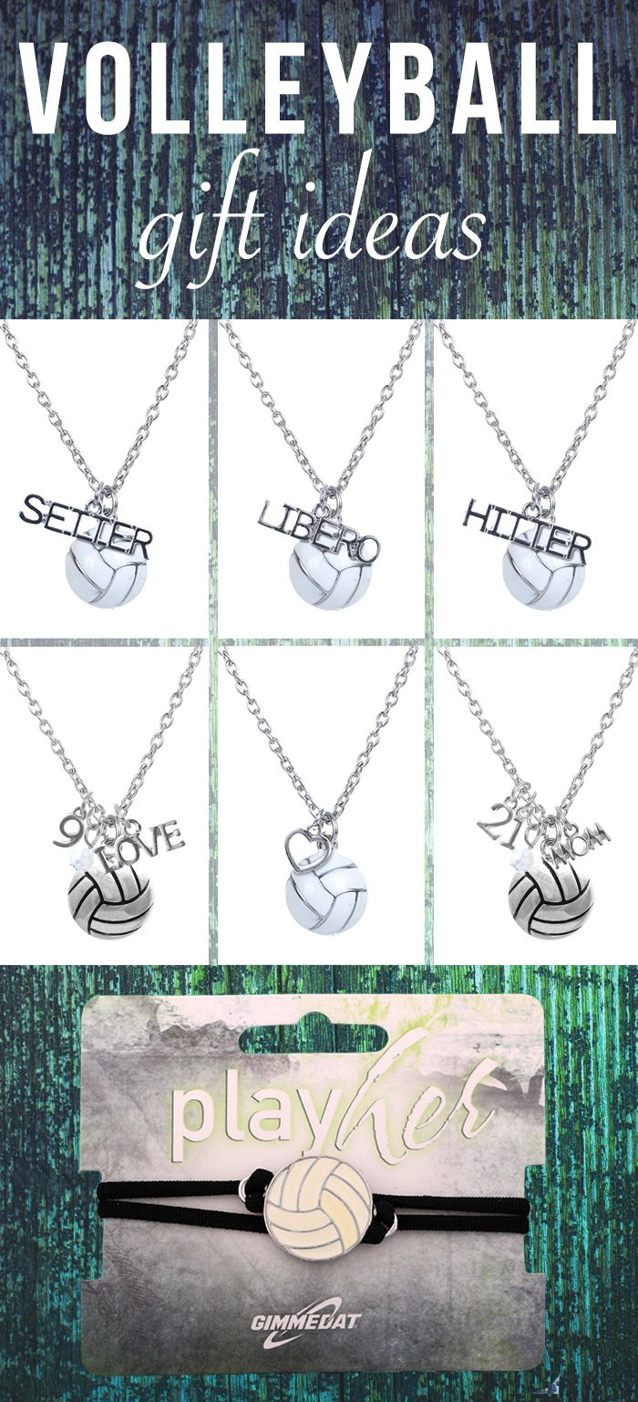 Customize your volleyball necklace with a heart or number! Great volleyball gift.