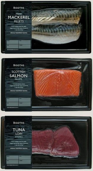 fresh fish packaging for Booths own label by smithandvillage.com