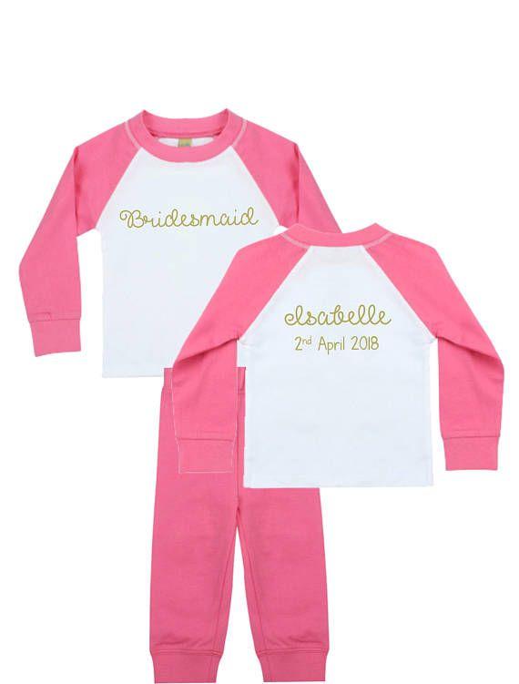 Personalised Bridesmaid Pyjamas Bridesmaid PJ's