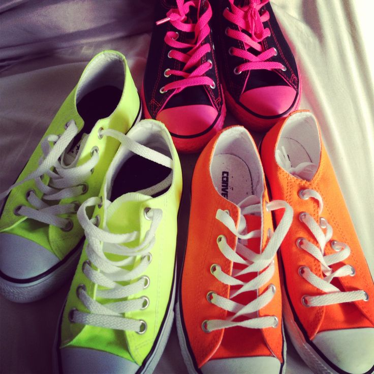 25+ best ideas about Neon Converse Shoes on Pinterest