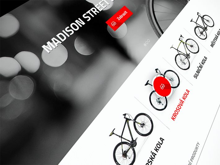 Bike online store by Visualcreative.cz , via Behance
