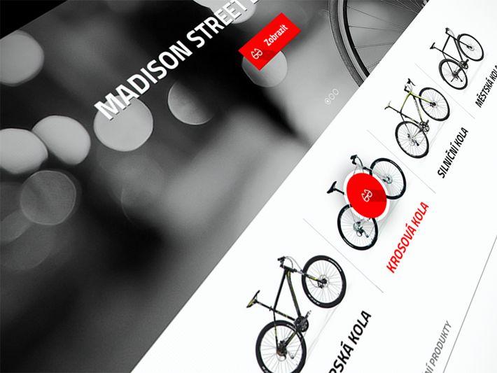 Bike online store by Visualcreative.cz , via Behance