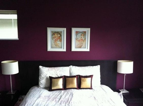 bedroom accent wall beautiful shade of purple this is the color i want. Interior Design Ideas. Home Design Ideas