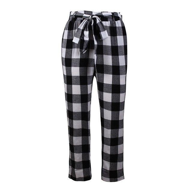 2018 Autumn Lace Up Women Trousers Wide Leg Ladies Pants Harem Striped Pants Pleated Casual Women Capris