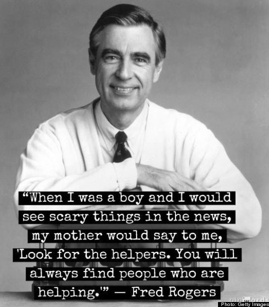 Look for the helpers at the scary violent news baby boy and girl. There's also good people too.